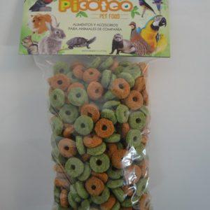 Aros de alfalfa zanahoria snack 250 gr snack roedores