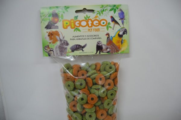 Aros de alfalfa zanahoria snack roedores 1kg