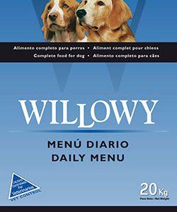 Willowy menu diario 20 Kg