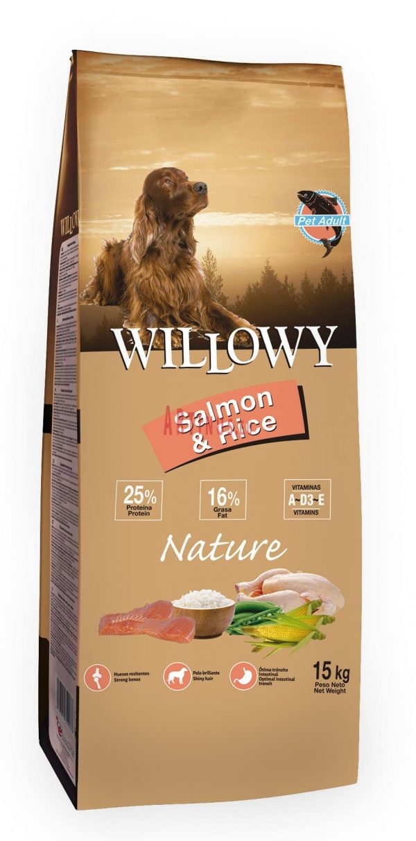 Willowy nature salmon&arroz 15 Kg
